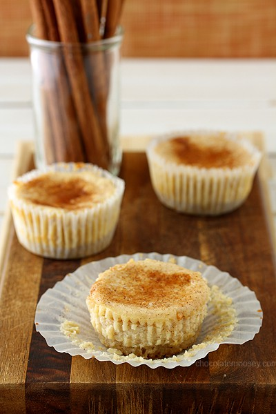 Small Batch Mini Snickerdoodle Cheesecakes