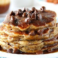 Small Batch Chocolate Chip Pancakes For Two