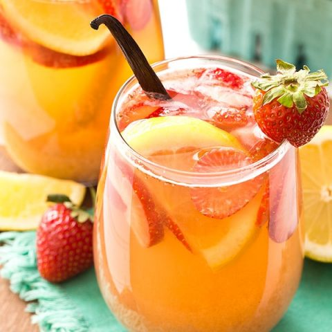 Strawberry Vanilla Sangria