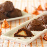 Stuffed Pumpkin Spice Kiss Cookies