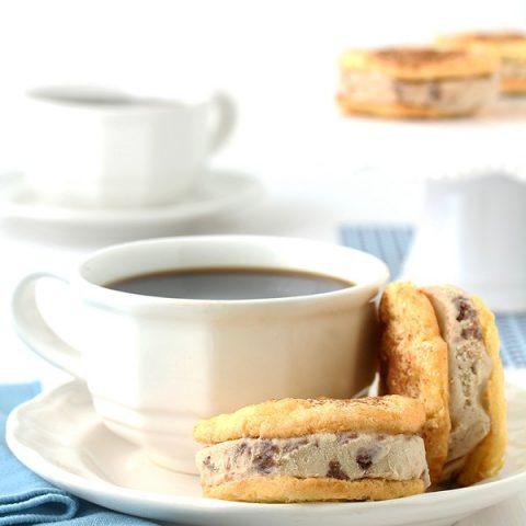 Tiramisu Ice Cream Sandwich Cookies