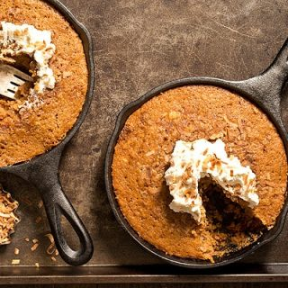 Toasted Coconut Skillet Cakes