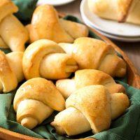 Vanilla Honey Butter Crescent Rolls