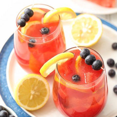 Watermelon Blueberry Sangria