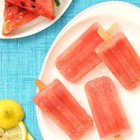 Watermelon Lemonade Margarita Popsicles