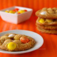 White Chocolate Candy Corn Mnm Cookies