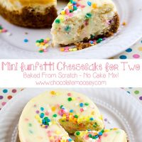 Mini Funfetti Cheesecake For Two