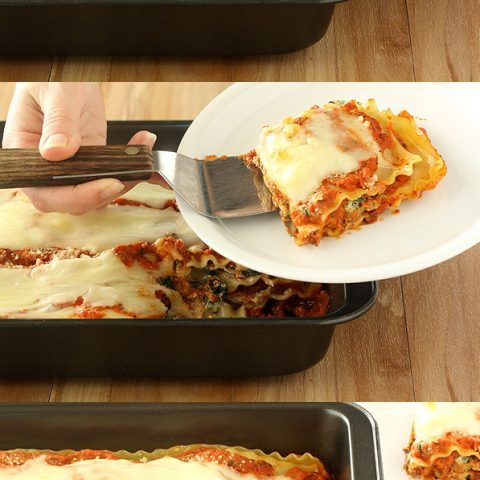 Spinach, Carrot, and Mushroom Lasagna