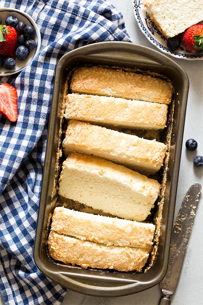 Angel Food Cake In A Loaf Pan Homemade In The Kitchen