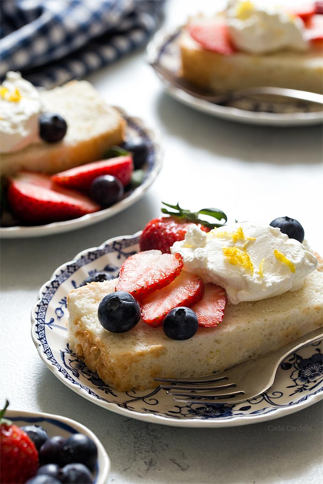 Angel Food Cake In A Loaf Pan made without cream of tartar