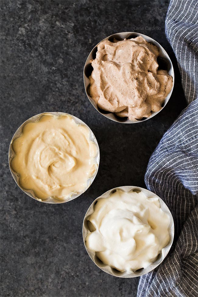 Small Batch Homemade Whipped Cream featuring chantilly, chocolate, and peanut butter