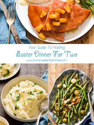 Not hosting a huge Easter this year? You're in luck because here is your ultimate guide to Easter Dinner For Two! Menu includes recipes for two and small batch recipes of your favorite Easter dishes