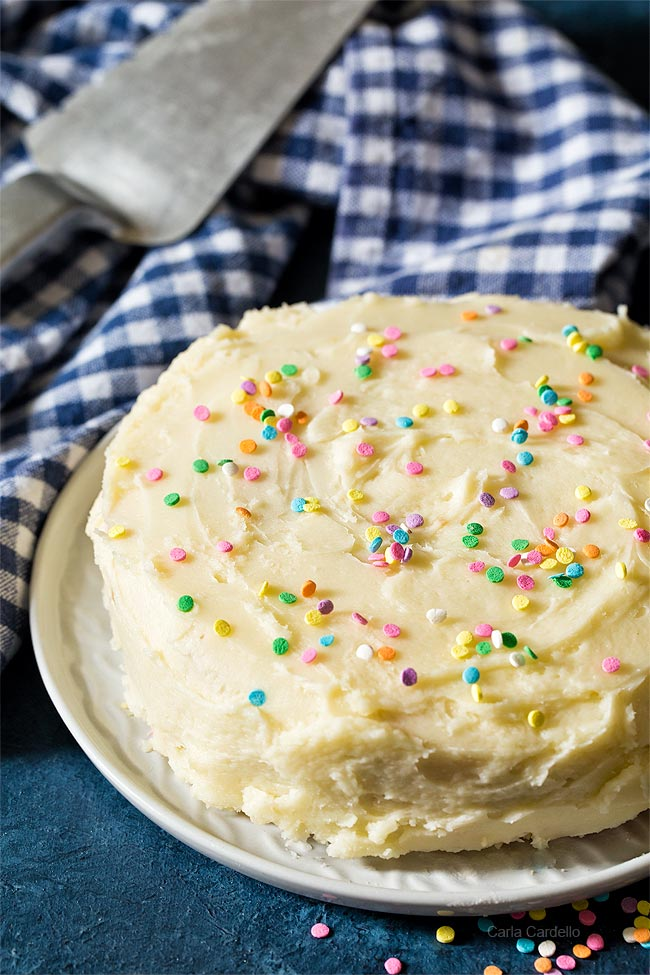 Funfetti Cake with Small Batch Buttercream Frosting