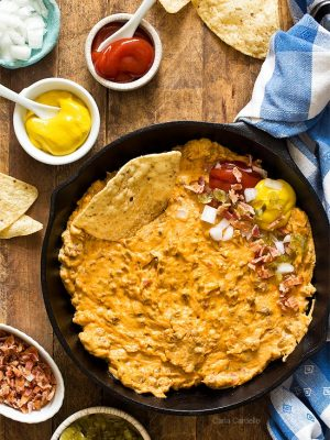 Creamy Skillet Bacon Cheeseburger Dip (Small Batch)