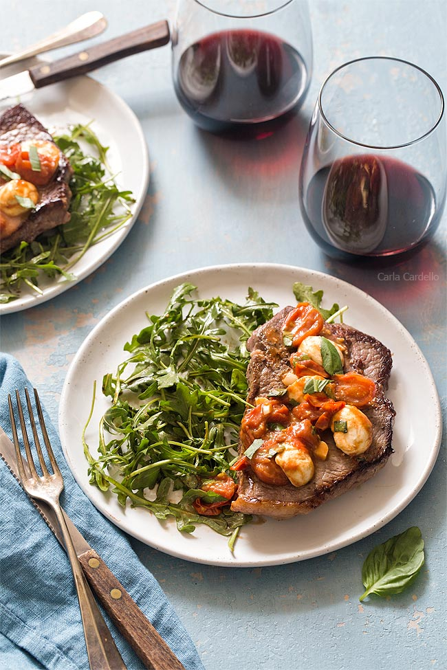 Caprese Steak Dinner For Two for romantic meal at home