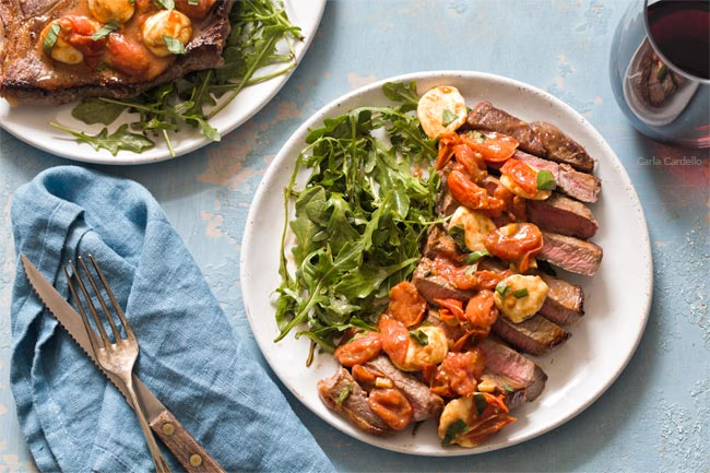 Caprese Steak Dinner For Two for Valentine's Day