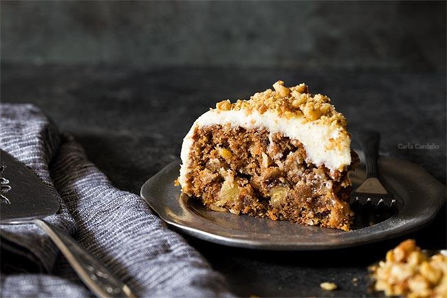 Slice of Small Carrot Cake Recipe