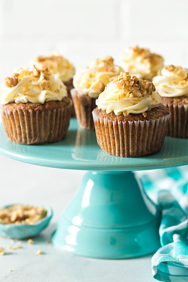 Carrot Cake Cupcakes (Small Batch) with pineapple