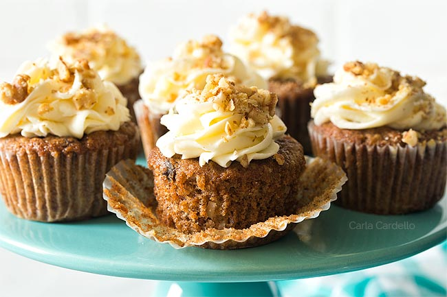 Carrot Cake Cupcakes For Two