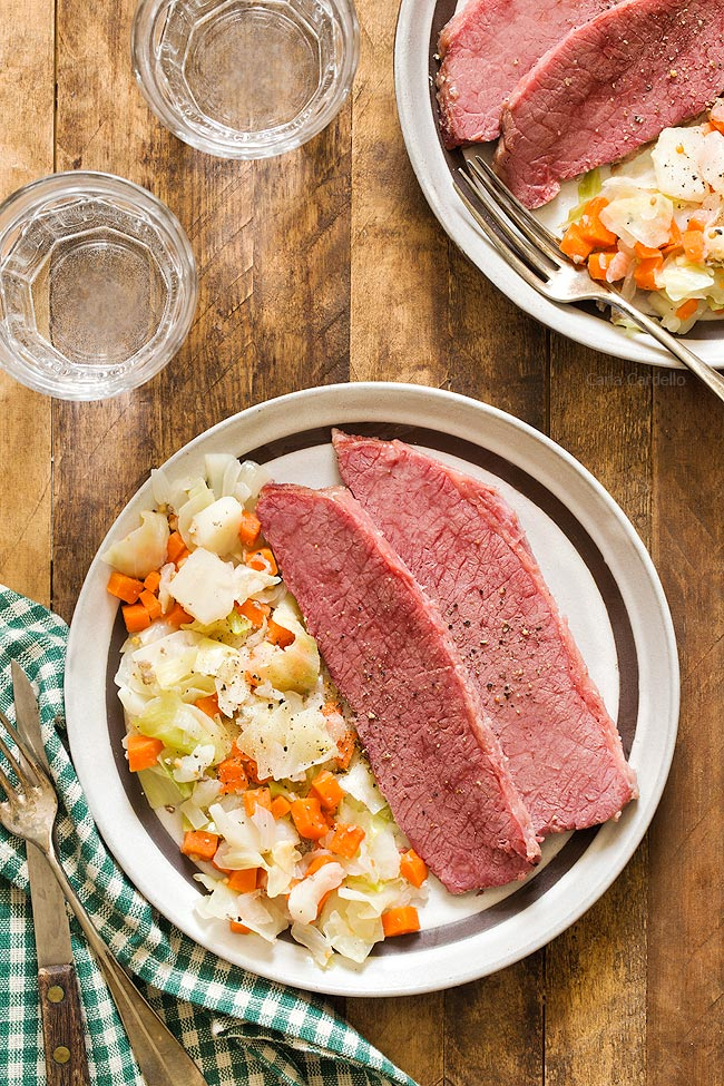 Corned Beef and Cabbage For Two