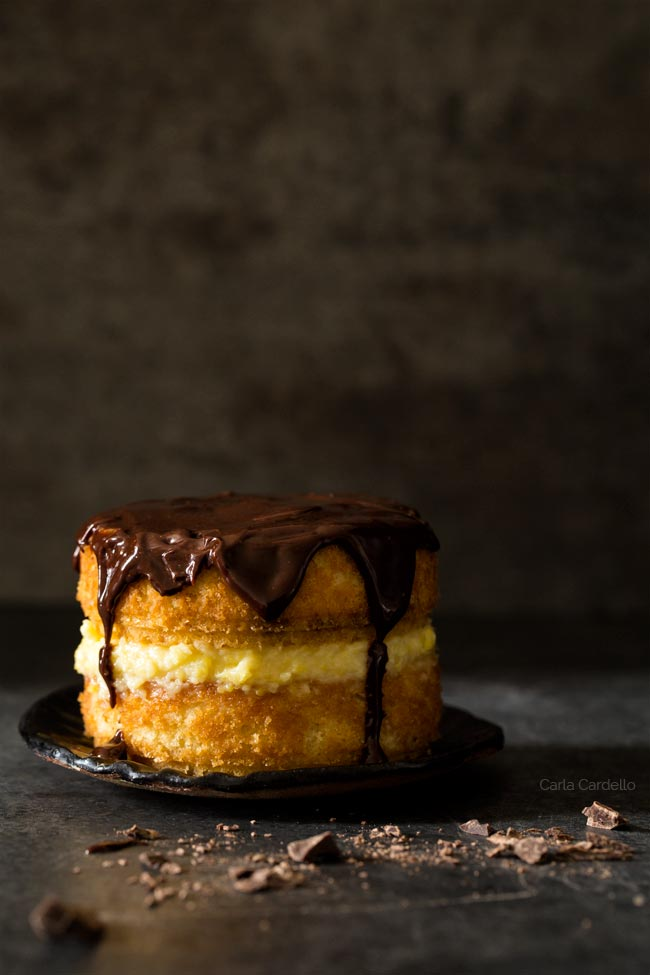 Mini Boston Cream Pie For Two