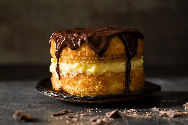 4 Inch Boston Cream Pie Cake For Two