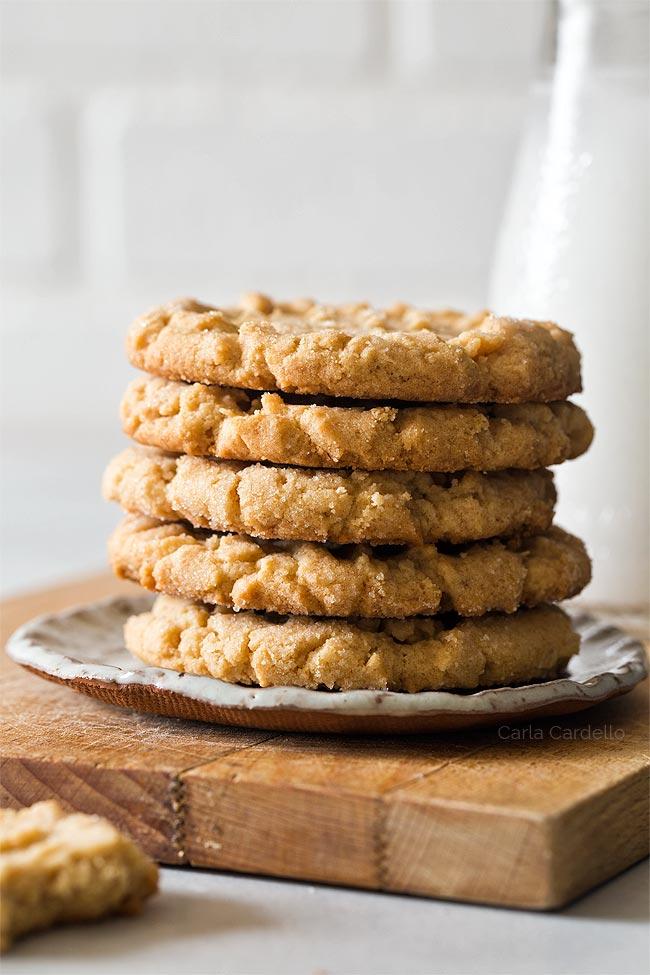 Homemade Peanut Butter Cookies (Small Batch)