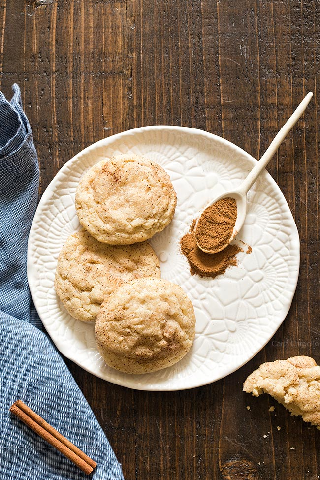 Small Batch Snickerdoodle Cookies