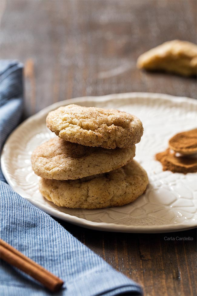 Small Batch Snickerdoodles