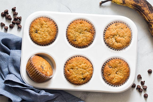 Small Batch Banana Chocolate Chip Muffins