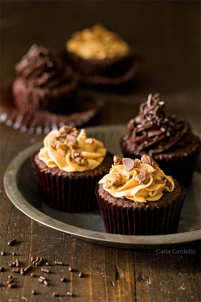 Small Batch Chocolate Cupcakes