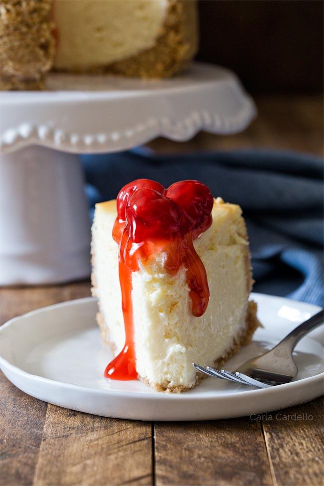 Slice of 6 inch cheesecake recipe
