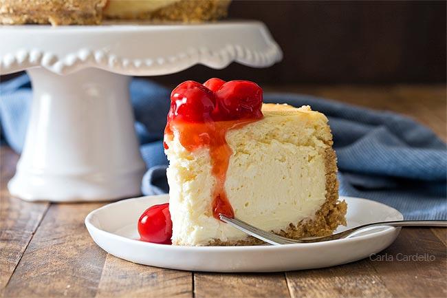 Slice of small cheesecake recipe