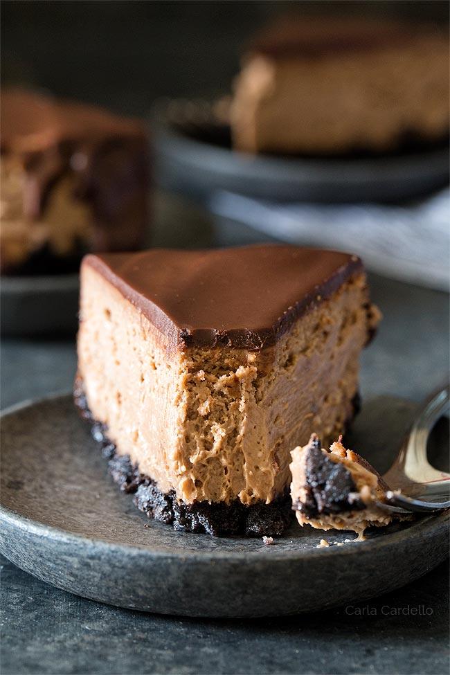 Bite of 6 Inch Chocolate Cheesecake