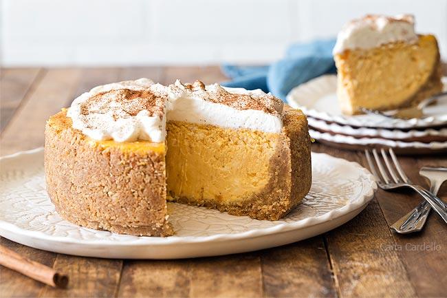 6 Inch Pumpkin Cheesecake for Thanksgiving