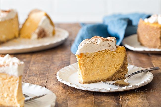 Slice of Small Pumpkin Cheesecake