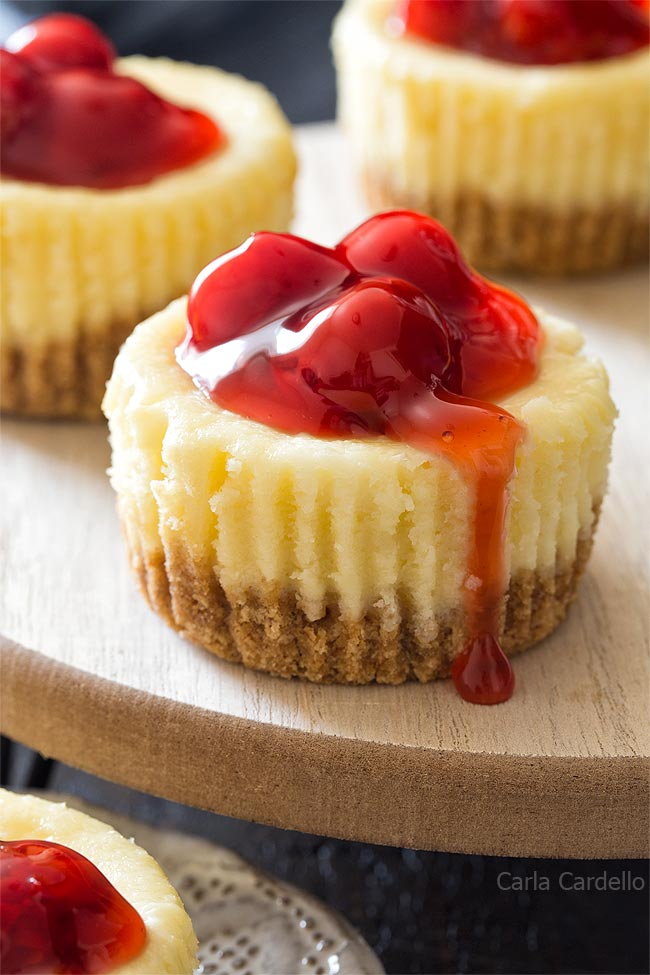 Small Batch Mini Cheesecakes