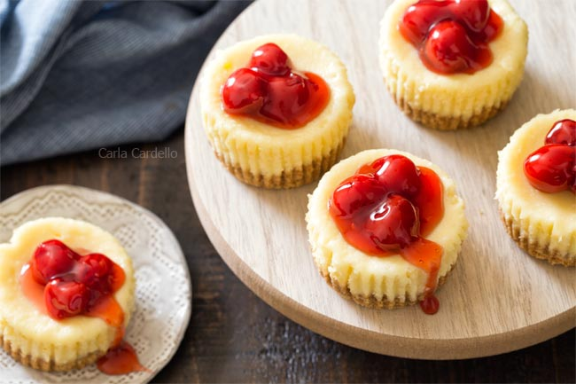 5 Mini Cheesecakes