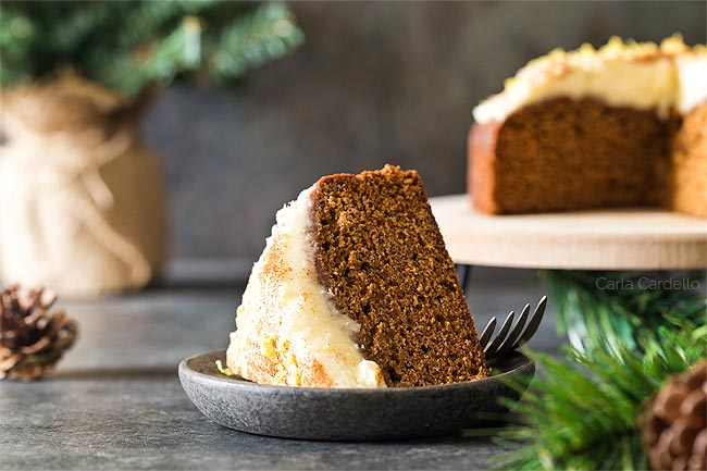 Slice of Small Gingerbread Cake