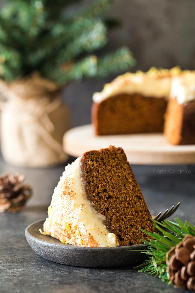 Slice of 6 Inch Gingerbread Cake