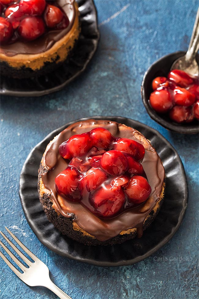 Recipe for 4 Inch Chocolate Cheesecake