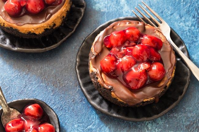 Mini Chocolate Cheesecake For Two
