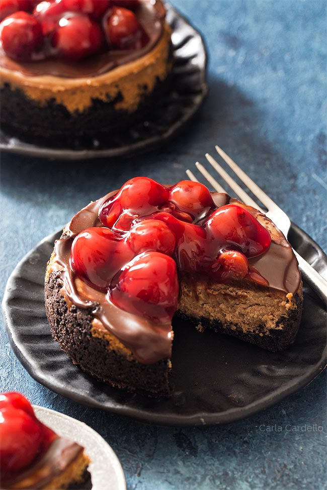Chocolate Cheesecake in 4 inch springform pan