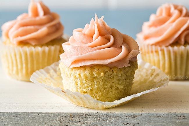 Vanilla cupcake unwrapped