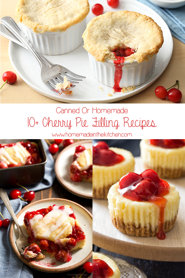 Collage Of Cherry Pie Filling Recipes